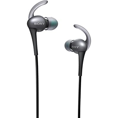 Sony Premium Active Series Lightweight Extra Bass Noise-Cancelling Earbud Headphones With In-line Microphone and Remote for Apple/Android Smartphone (Black)