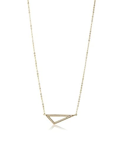 Chloe & Theodora CZ Triangle Bar Necklace