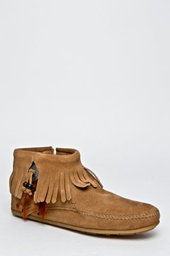 Minnetonka 527t Ankle Bootie With Concho - Taupe