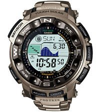 Casio Men's PRG250T-7 Grey Stainless-Steel Quartz Watch with Digital Dial