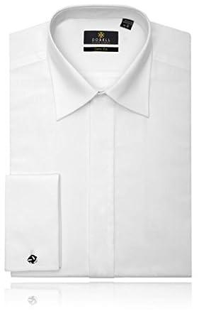 Chemise de Smoking en coton Blanc, coupe slim Col Standard Devant sans plastron - 38