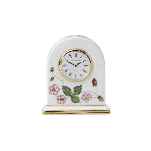 Amazon.com: Wedgwood Wild Strawberry Bone China Small Dome Clock: Home