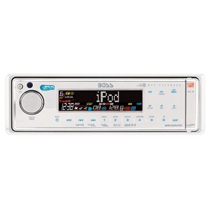 High Quality New Boss Audio MR1560DI White Marine AM/FM w/iPod Docking