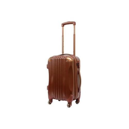 【東京ガールズコレクション ランウェイ商品】ハード キャリーケース actus color's ジッパーキャリー ブラウン Sサイズ 47cm スーツケース