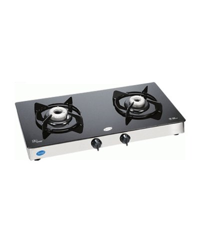 Glen Toughened Glass Gas Cooktop (2 Burner)