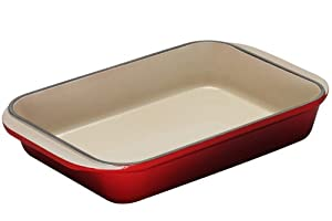 Le Creuset Enameled Cast-Iron 15-3/4-by-10-3/4-Inch Rectangular Roaster, Cherry