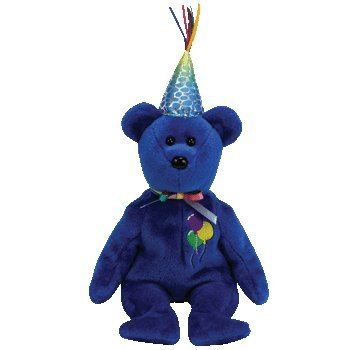 TY Beanie Babies Happy Birthday  - Happy Birthday Bear (Blue)