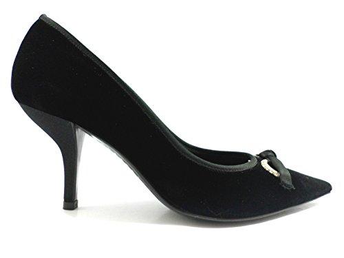 scarpe donna SERGIO ROSSI 36,5 EU decoltè nero Velluto ZX03