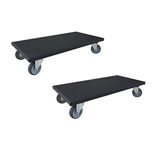 2-Stck-Transportroller-200-kg-Mbelroller-Rollbrett-Hund-Mbelhund-Mbel-Roller-Rollen-Gummirad