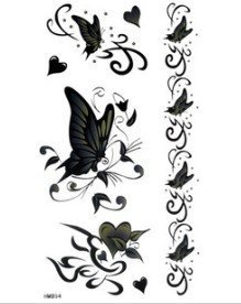 Black Butterfly Party Tattoo Stickers Temporary Tattoos Fake Tattoos