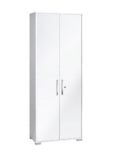 MAJA-Mbel-1232-3956-Aktenregal-mit-Tren-Icy-wei-wei-Hochglanz-Abmessungen-BxHxT-80-x-2145-x-40-cm