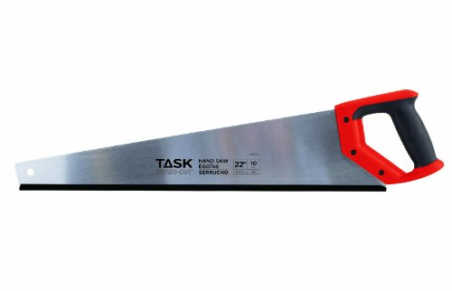 Task Tools T88023  22-Inch  10-Point Super Cuts Handsaw,  Rubber Grip