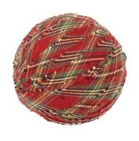 "Tea Cabin Decorative Fabric Ball #5, 2.5"" Diameter, Sold As Set Of 6"