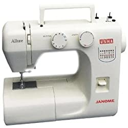 Usha Janome Allure 75-Watt Sewing Machine (White/Blue)