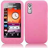 Samsung S5230 Tocco Lite Pink Silicone Skin Cover & Screen Protector