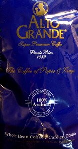 Alto Grande Super Premium Coffee Beans 6 Pounds Bag