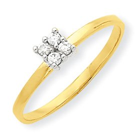 Genuine IceCarats Designer Jewelry Gift 10K Cz Promise Ring Size 6.00