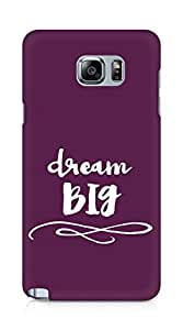 AMEZ dream big Back Cover For Samsung Galaxy Note 5