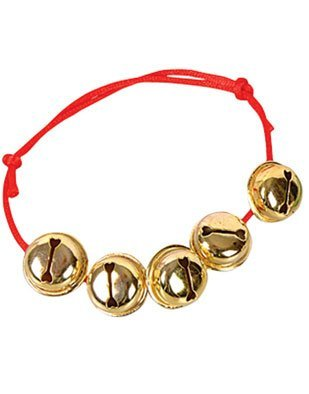1 Dozen-Jingle Bell Bracelets. Assorted Red and Green Straps.