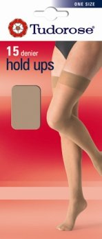 Tudorose 15 Denier Hold Up, One Size, Non Silicone Top (12 pair pack)