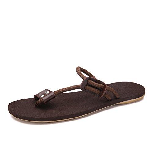 sandales d'été et des chaussons/Tendances des loisirs coréen tongs/Sandales d'homme/Peaux de glissement pincement