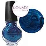 Vernis BLEU SAPHIR stamping nail art Konad - 11ml