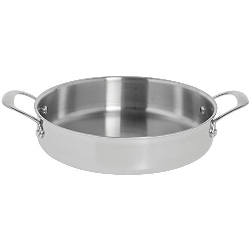 Hubert Commercial Grade 4 Qt Tri-Ply Stainless Steel Braiser