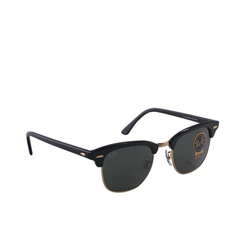Ray Ban Sunglasses RB 3016 Clubmaster RB3016 W0365 Acetate plastic Black - Gold Grey