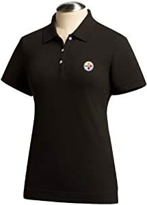 NFL Pittsburgh Steelers Ladies Ace Polo, Black by Cutter & Buck