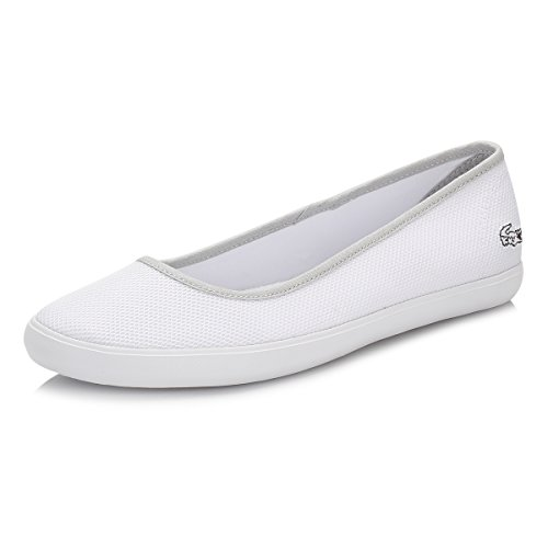 Lacoste Donna Bianco Marthe Slip On Pumps-UK 8