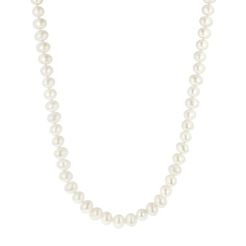 White Freshwater Cultured A Quality Pearl Necklace (7.5-8mm ), 20&#8243;