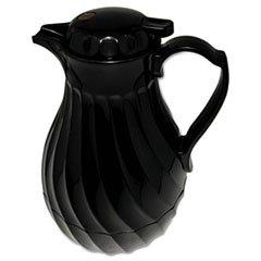 Hormel 4022B Poly Lined Carafe, Swirl Design, 40 oz. Capacity, Black
