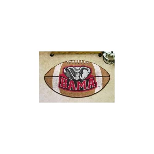NCAA ALABAMA CRIMSON TIDE FOOTBALL SHAPED DOOR MAT RUG