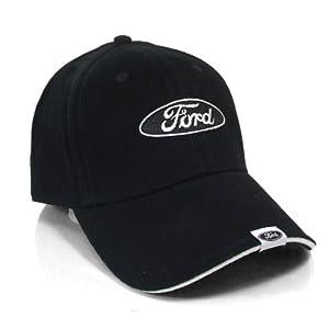 Amazon.com: Ford Logo Tag on Bill Black Baseball Cap: Automotive