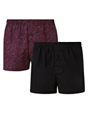 2 Pack Pure Cotton Assorted Boxers