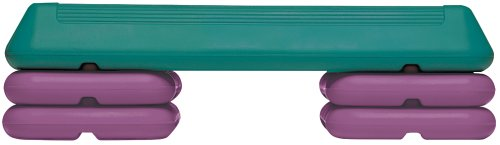 The Step Circuit Step with Platform and 4 Risers, Teal/Purple