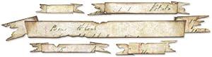 Sizzix Sizzlits Decorative Strip Die - Tattered Banners by Tim Holtz