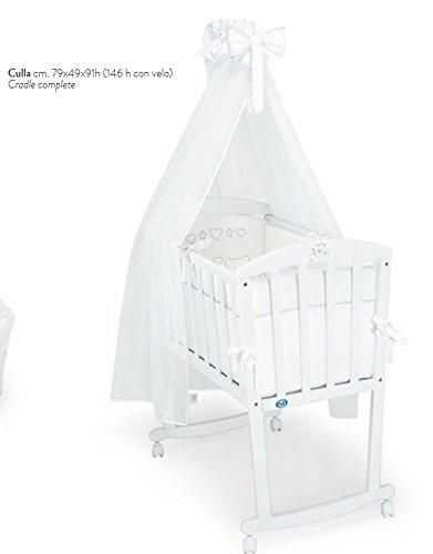 Pali - Culla dondolo Prestige, colore: Bianco