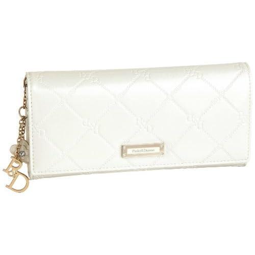 Pinky&Dianne(ピンキーアンドダイアン) チェックエナメル 薄型長財布  PDLW9MT2 00 (ホワイト)