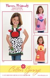 Cotton Ginnys Patterns Farm Friends Aprons; 3 Items/Order