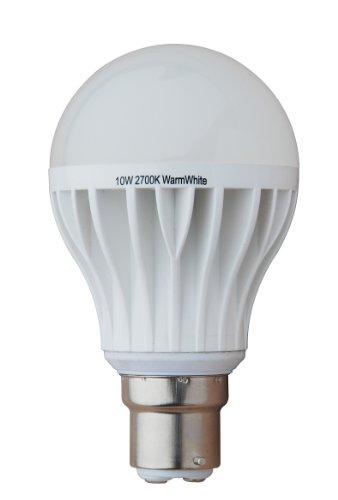 Generic Dimmable 10W Thermal Plastic A60 Led Bulb, 220V 230V, B22 Lamp Base, 2700K Warm White, 790 Lumen