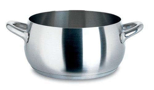 Alessi Mami Casserole, Stainless Steel, Satin, 24 cm (SG101/24 S)