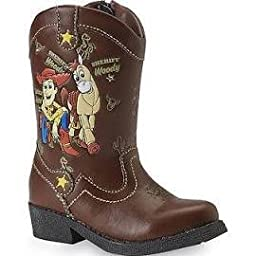 Disney Toy Story Light Up Woody Cowboy Boots for Toddler Boys (Brown/Size 8-12) (8)