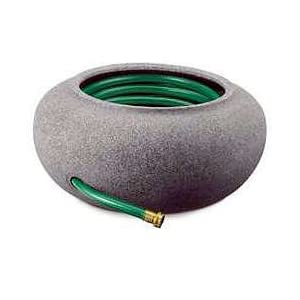 Watering Hose Pot, Resin - Black Granite
