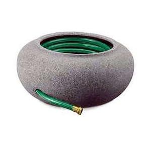 Watering Hose Pot, Resin - Black Granite