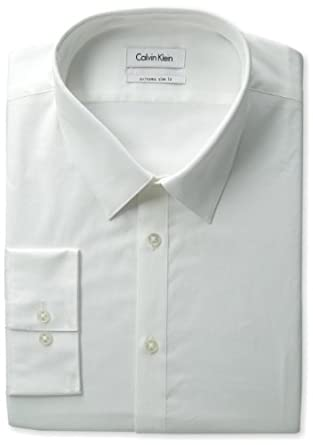 Calvin Klein Men's Extreme Slim Fit Dress Shirt, White, 14.5/32-33