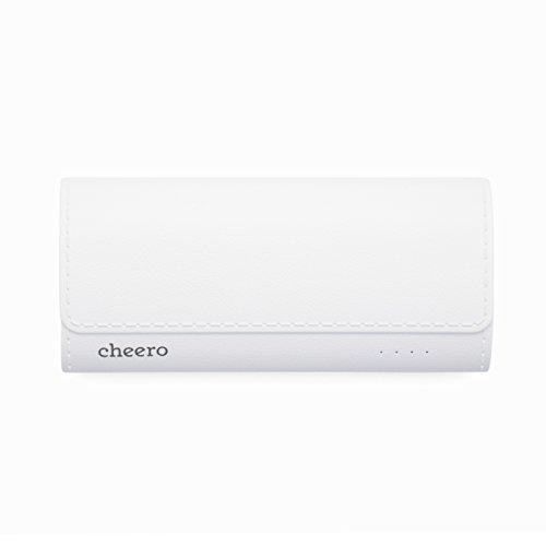 cheero Grip 4 5200mAh 大容量 モバイルバッテリー 革のような質感 LEDライト付き iPhone 6s / 6s Plus / 6 / 6 Plus / 5s / 5c / 5 / iPad / Android / Xperia / Galaxy / 各種スマホ / タブレット / ゲーム機 / Wi-Fiルータ 等 急速充電 対応 超コンパクト レザー調 2ポート 【AUTO-IC機能搭載】