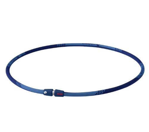 Phiten Titanium Necklace - X30 Edge Navy 18 inch