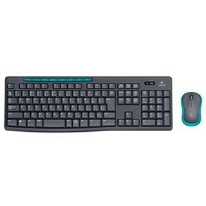 ロジクール ワイヤレスキーボード[2.4GHz USB・Win/Chrome]&マウス ワイヤレスコンボ (108キー・ブラック) MK275