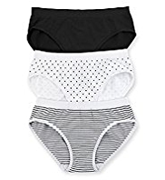 3 Pack Seamfree Assorted Bikini Knickers